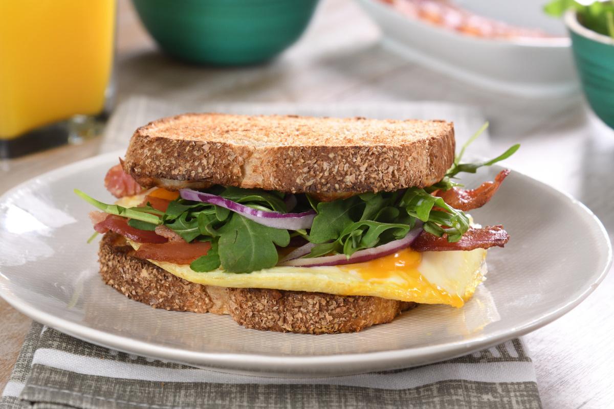 Sándwich de Huevo estrellado con mozzarella